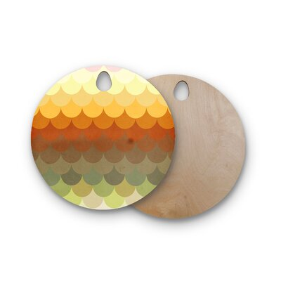 Danny Ivan Birchwood Half Circle Waves Cutting Board Shape: Round