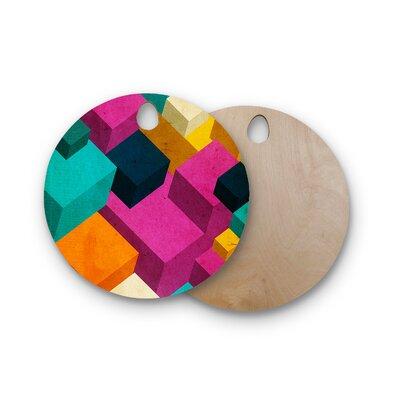 Danny Ivan Birchwood Happy Cubes Cutting Board Shape: Round