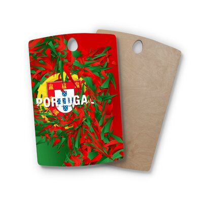 Danny Ivan Birchwood Portugal World Cup Cutting Board Shape: Rectangle