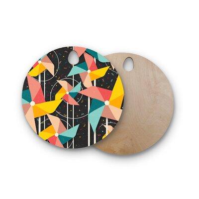 Danny Ivan Birchwood Pinwheels Cutting Board Shape: Round