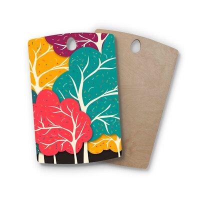 Danny Ivan Birchwood Happy Forest Trees Cutting Board Shape: Rectangle