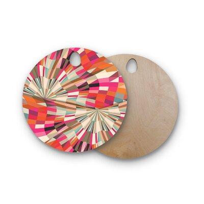Danny Ivan Birchwood Convoke Geometric Cutting Board Shape: Round
