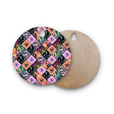 Danny Ivan Birchwood Never Run Away Geometric Cutting Board Shape: Round