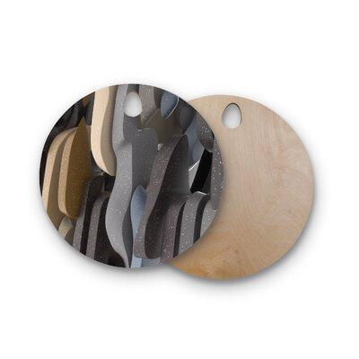 Danny Ivan Birchwood Adeline Digital Cutting Board Shape: Round