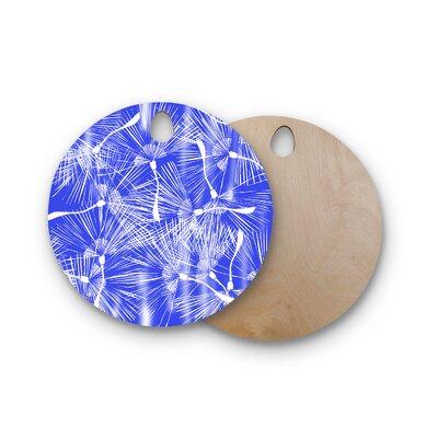 Danii Pollehn Birchwood Palmtree Chinoiserie Cutting Board Shape: Round