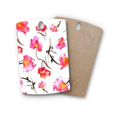 Danii Pollehn Birchwood Springflower Painting Cutting Board Shape: Rectangle