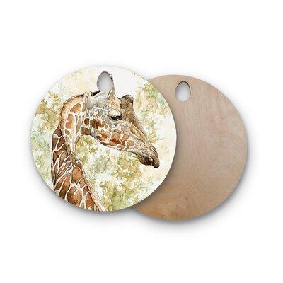 Wildlife Birchwood Africa 2 Animals Cutting Board Shape: Round