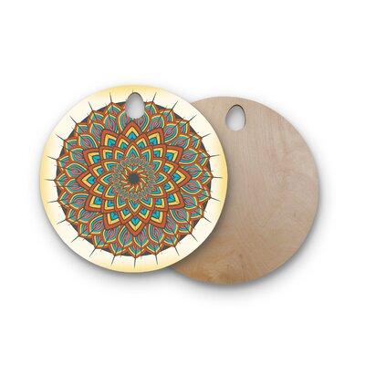 Famenxt Birchwood Floral Mandala Geometric Cutting Board Shape: Round