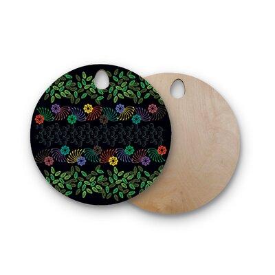 Famenxt Birchwood Jungle Pattern Cutting Board Shape: Round