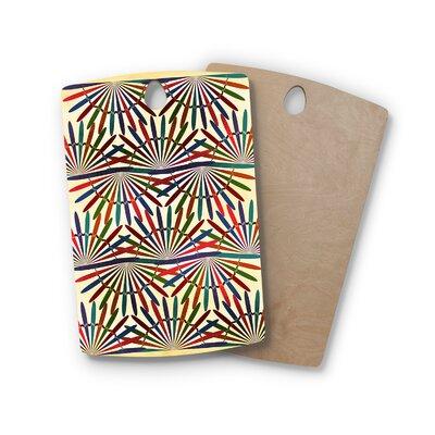 Famenxt Birchwood Abstract Pattern Cutting Board Shape: Rectangle