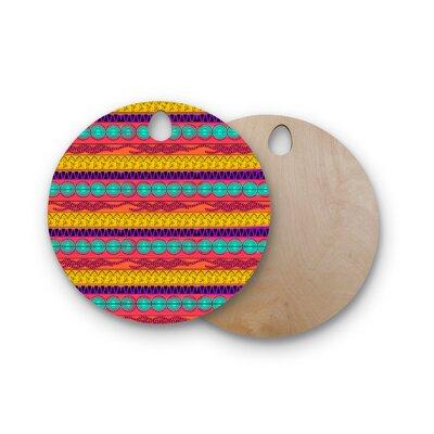 Famenxt Birchwood Pattern Cutting Board Shape: Round
