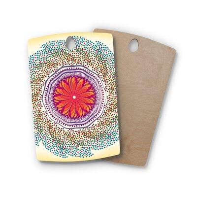 Famenxt Birchwood Confetti Dots Mandala Abstract Cutting Board Shape: Rectangle