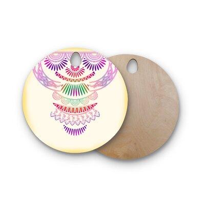 Famenxt Birchwood Decorative Ornament Cutting Board Shape: Round