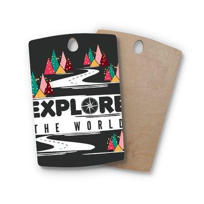 Famenxt Birchwood Explore the World Cutting Board Shape: Rectangle