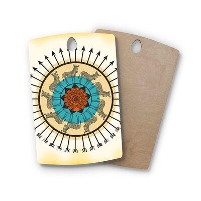 Famenxt Birchwood Peacock Cutting Board Shape: Rectangle