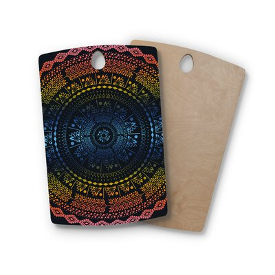 Famenxt Birchwood Night Queen Boho Mandala Illustration Cutting Board Shape: Rectangle