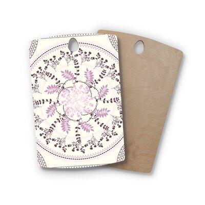 Famenxt Birchwood Pinkish Madellion Abstract Cutting Board Shape: Rectangle