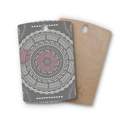 Famenxt Birchwood Culture Cut Boho Mandala Ilustration Cutting Board Shape: Rectangle