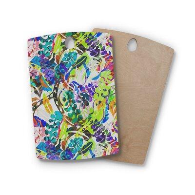 Gabriela Fuente Birchwood Flow Rainbow Floral Cutting Board Shape: Rectangle