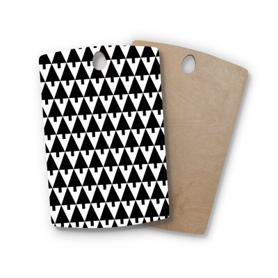 Gabriela Fuente Birchwood Happy X-Mas and Geometric Monotone Cutting Board Shape: Rectangle