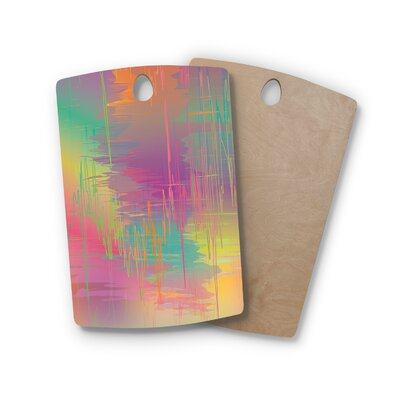 Graphic Tabby Birchwood Rainbow Storm Multi Abstract Cutting Board Shape: Rectangle