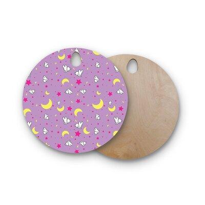 Jackie Rose Birchwood Goodnight Usagi Lavender Magenta Cutting Board Shape: Round