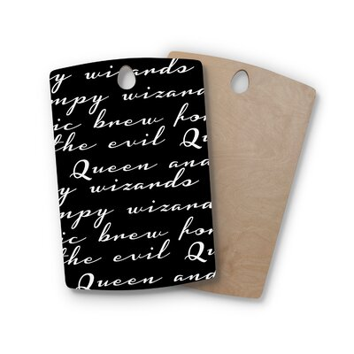 Jackie Rose Birchwood Grumpy Wizards Typography Cutting Board Shape: Rectangle