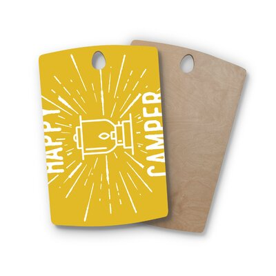 Jackie Rose Birchwood Happy Camper Typography Cutting Board Shape: Rectangle