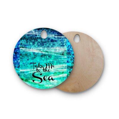 Ebi Emporium Birchwood Take Me to the Sea Glitter Cutting Board Shape: Round