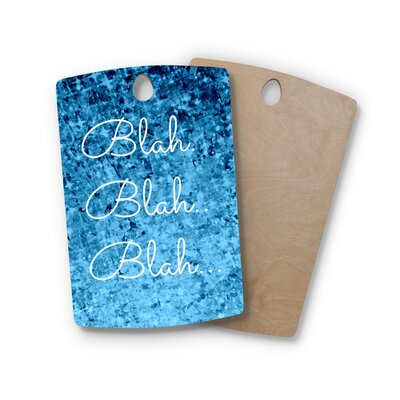 Ebi Emporium Birchwood Blah Glitter Cutting Board Shape: Rectangle