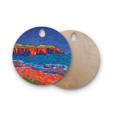 Jeff Ferst Birchwood Sea Shore Coastal Painting Cutting Board Shape: Round