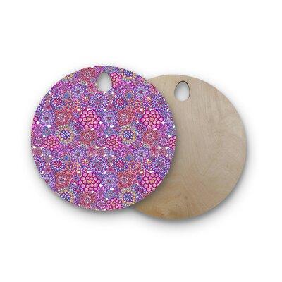 Julia Grifol Birchwood My Happy Flowers Cutting Board Shape: Round