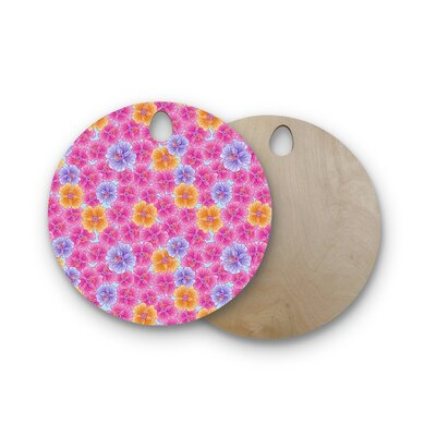 Julia Grifol Birchwood My Garden Cutting Board Shape: Round