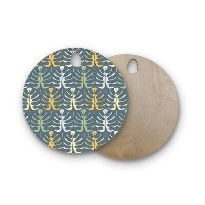 Julia Grifol Birchwood My Leaves on Cutting Board Shape: Round