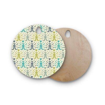 Julia Grifol Birchwood My Leaves Cutting Board Shape: Round