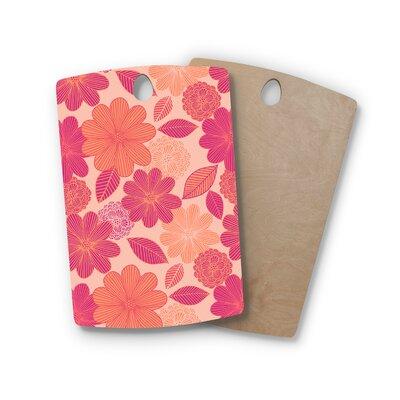 Julia Grifol Birchwood Lovely Flowers Magenta Digital Cutting Board Shape: Rectangle