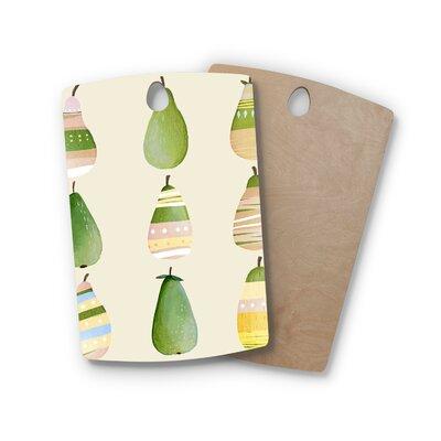Judith Loske Birchwood Happy Pears Cutting Board Shape: Rectangle