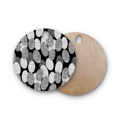 Jacqueline Milton Birchwood Seeds Monochrome Cutting Board Shape: Round