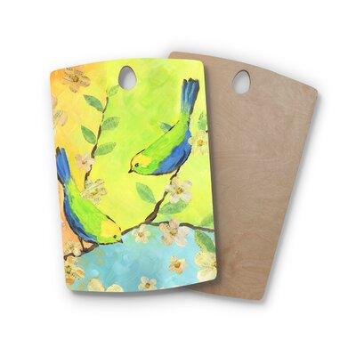 Jacqueline Milton Birchwood Song Birds Cutting Board Shape: Rectangle