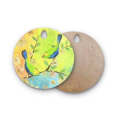 Jacqueline Milton Birchwood Song Birds Cutting Board Shape: Round