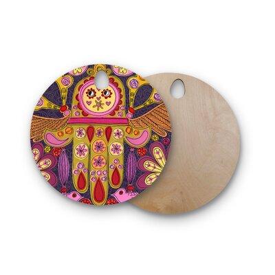 Jane Smith Birchwood Indian Jewelry Cutting Board Shape: Round