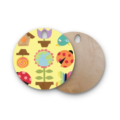 Jane Smith Birchwood Spring Repeat Cutting Board Shape: Round