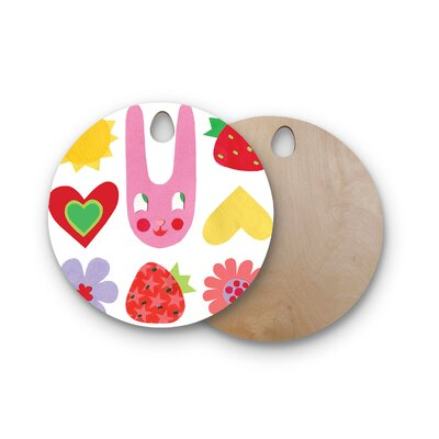 Jane Smith Birchwood Summer Repeat Cutting Board Shape: Round