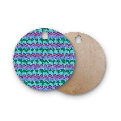 Jane Smith Birchwood Woodland Waves Cutting Board Shape: Round