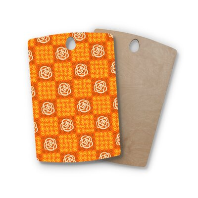 Jane Smith Birchwood Polka Dot Rose Pattern Cutting Board Shape: Rectangle