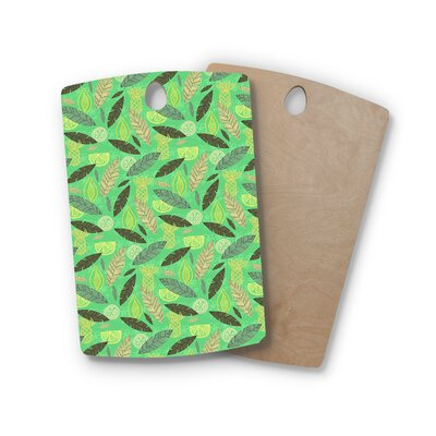 Jane Smith Birchwood Tropical Fruits Pattern Cutting Board Shape: Rectangle