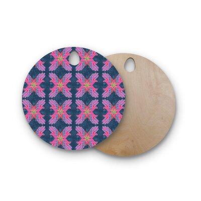 Jane Smith Birchwood Hamsa Pattern Cutting Board Shape: Round