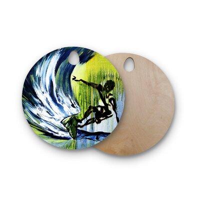 Josh Serafin Birchwood Greenroom Surfer Cutting Board Shape: Round