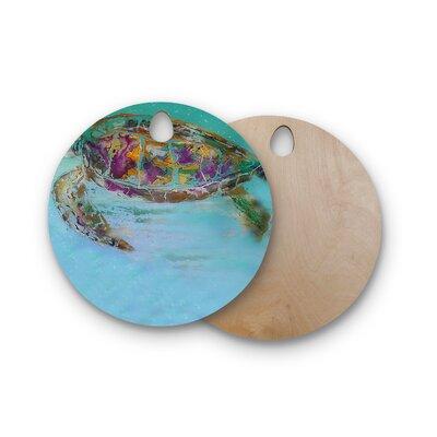 Josh Serafin Birchwood Mommy Turtle Cutting Board Shape: Round