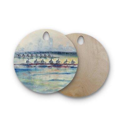 Josh Serafin Birchwood Crew Rowing Cutting Board Shape: Round